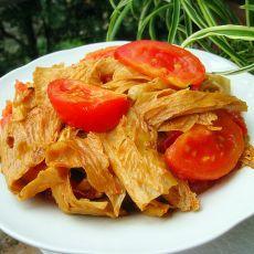 西红柿炒腐竹的做法
