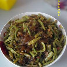 长豆角炖粉条的做法