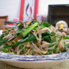 韭菜银芽炒粉丝-首发的做法