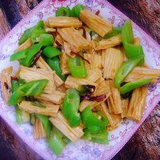 辣炒腐竹的做法