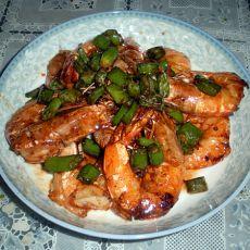 叉烧大虾的做法
