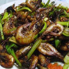 香辣干煸海虾的做法