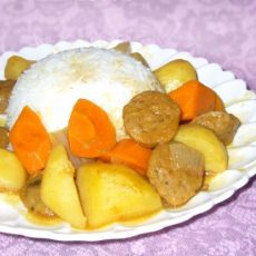 咖喱牛肉丸饭的做法