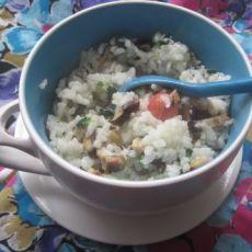 香菇菜饭的做法