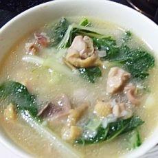 鲜美鸡肉青菜粥的做法