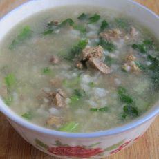 小白菜鸡肝粥