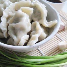 荠菜鲜肉水饺的做法