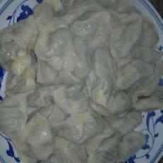 快速制作的手挤韭菜饺子