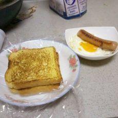 快捷营养小早餐之火腿煎蛋吐司篇~~~的做法