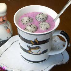火龙果姜汁冰饮的做法