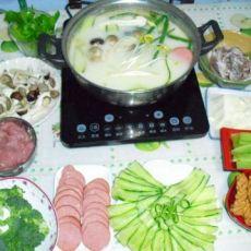 豆汁三鲜豆花火锅的做法