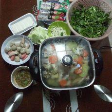 蟹煲鸡火锅的做法
