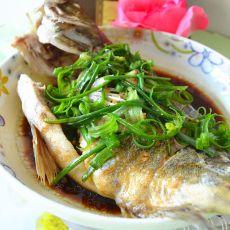 冬菜蒸桂花鱼