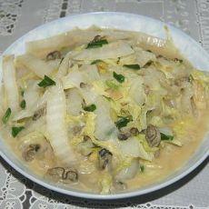 牡蛎炒大白菜的做法