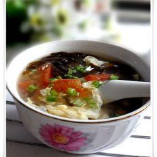 番茄紫菜蛋花汤的做法