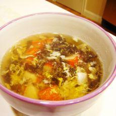 紫菜蟹棒酸辣汤的做法
