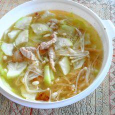 西葫芦金针菇汤的做法