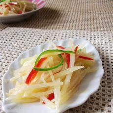 双椒酸辣土豆丝的做法