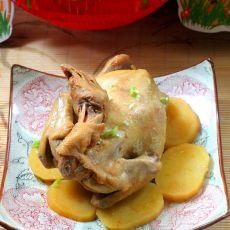 蒸盐焗鸡的做法