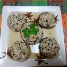 三鲜豆腐肉馅香菇酿的做法