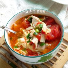 番茄蘑菇鸡蛋汤的做法