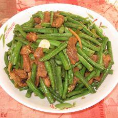 长豆角炒肉的做法