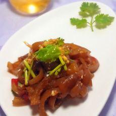 香菜拌猪皮