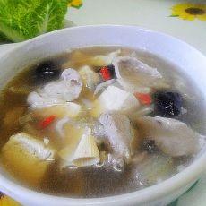羊肉白菜炖豆腐