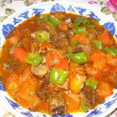 西红柿烧牛肉块的做法
