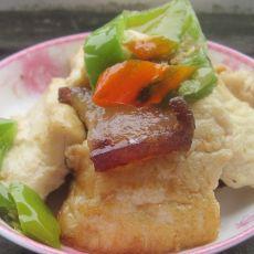 腊肉煎豆腐的做法