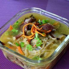 虫草花金针菇汤的做法