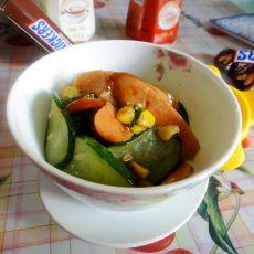 玉米青瓜炒火腿