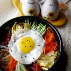 简易石锅拌饭   懒人快手餐的做法