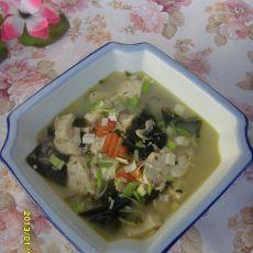 海带豆腐虾皮汤的做法