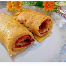 培根鸡蛋卷——营养早餐的做法