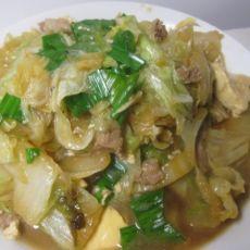 肉丝白菜熬豆腐