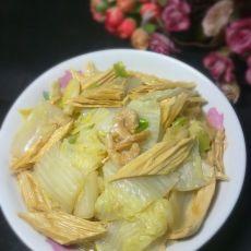 海米腐竹白菜的做法