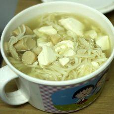 金针菇豆腐营养面的做法