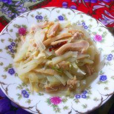 白菜炒牛肚的做法