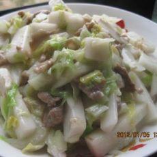 大白菜炒年糕的做法