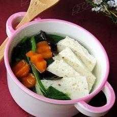 鸡肉豆腐蔬菜汤的做法