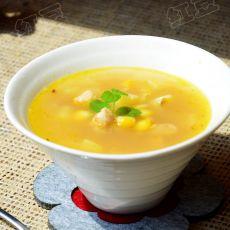 西式奶油鸡肉玉米汤的做法