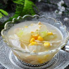 蘑菇玉米冬瓜汤的做法