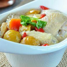 板栗参鸡汤