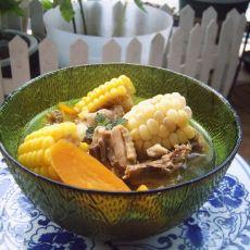 粗粮炖鸡汤的做法