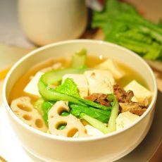 小白菜排骨莲藕汤