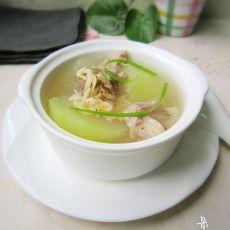蒲瓜瘦肉海米鲜汤