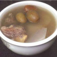 青橄榄萝卜汤 润喉汤的做法
