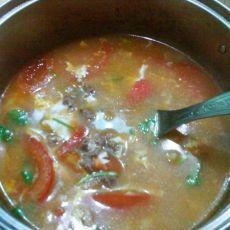 番茄牛肉蛋花汤的做法