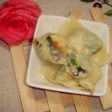 野菜蛋黄馄饨的做法